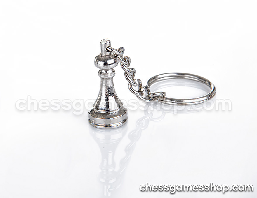Metal keychain <br> Pawn chess piece