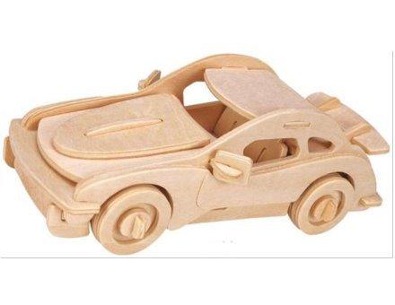 Lesena 3D sestavljanka <br>Športni avto