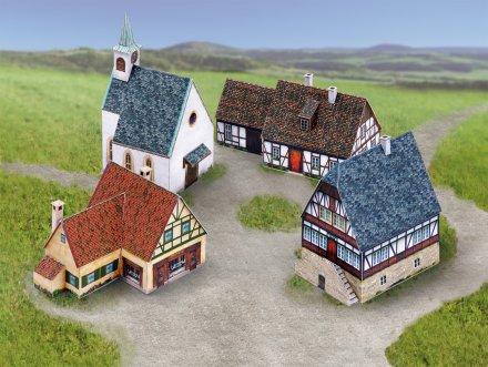 Naselje 3D sestavljanka karton