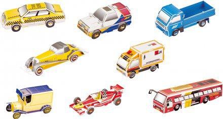 Avtomobili 3D sestavljanka karton