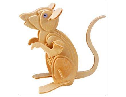 Lesena 3D sestavljanka Miš