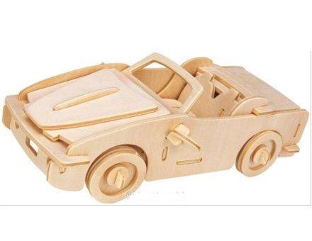 Lesena 3D sestavljanka <br> Kabriolet