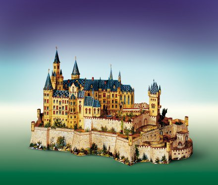 Hohenzollern 3D sestavljanka karton