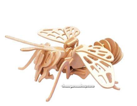 Lesena 3D sestavljanka Čmrlj