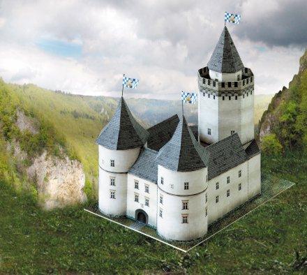 Grad Blankenstein 3D sestavljanka karton