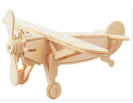 Lesena 3D sestavljanka <br> Letalo