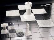 Šahovnica za orjaške vrtne figure