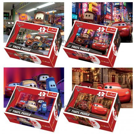 Mini Avto Disney Sestavljanka KOMPLET