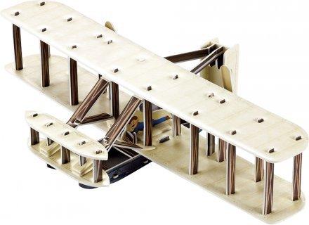 Letalo Dvokrilec 3D sestavljanka karton